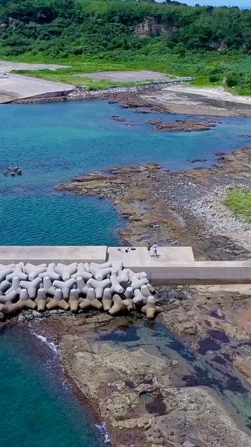 藍島でドローン撮影